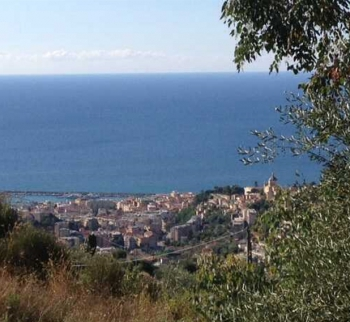 Plot of land with finished project in Sanremo