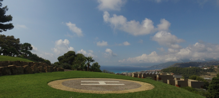 Villa with helipad in Bordighera