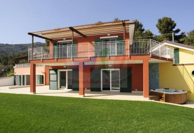 Villa on the sea in Alassio by the sea of Liguria, Italy